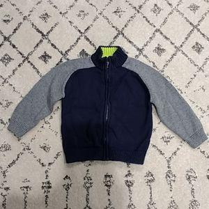 Oshkosh Boys Zip-up Sweater, Blue/Gray 24m